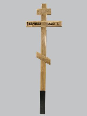 Крест дубовый с фрезеровкой